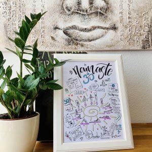 Sketchnote Bild Namaste
